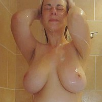 Bex takes a shower