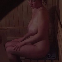 In a Czech sauna