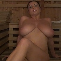 Ewa in the sauna