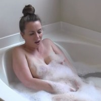 Nikki takes a bath