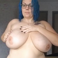 Lotion on H-cup tits